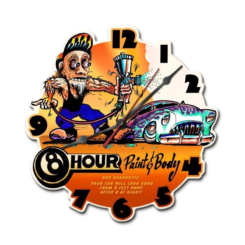 8 Hour Paint And Body Shop Clock Mark Luecks Online Store
