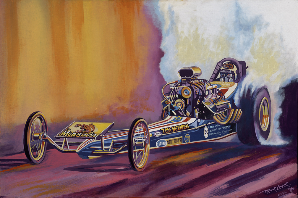 Car Drag Racing Paintings